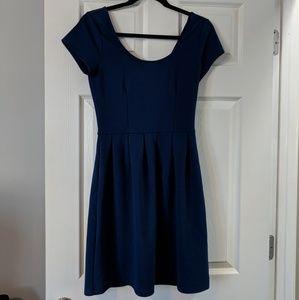 Bright navy blue short dress